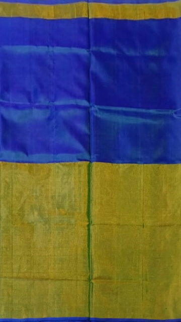 Bluish Violet Bluish Violet Uppada Tissue Silk Saree With Golden Border