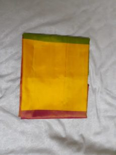 Yellow Green Red Uppada Saree-yespoho