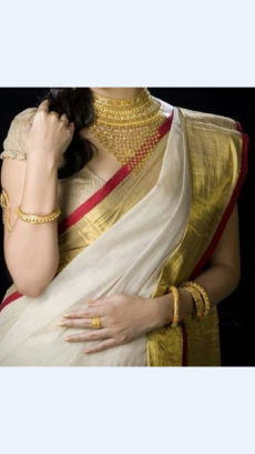 White Linen Saree with Plain Pallu perfect for occasions-yespoho