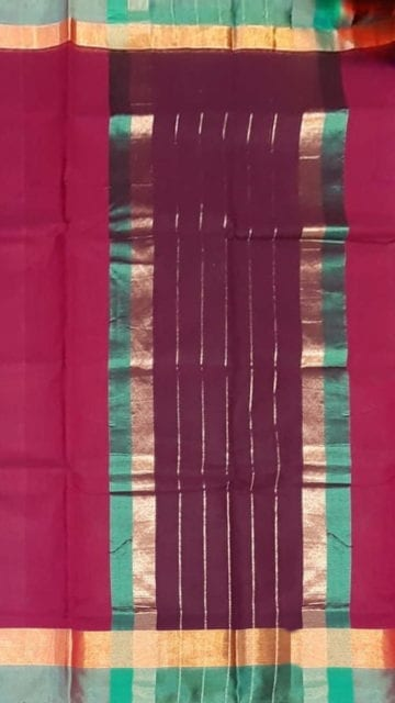 Cercise Pink Cercise Pink Cotton Saree with Light Grey and Golden Border