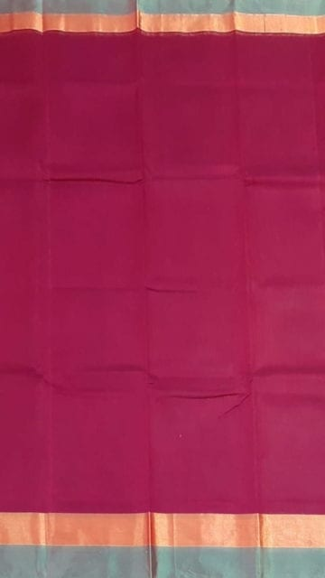 Yespoho Cercise Pink Cotton Saree with Light Grey and Golden Border