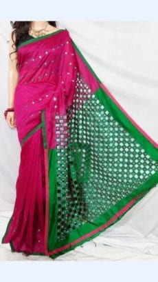 Magenta Silk Cotton Saree