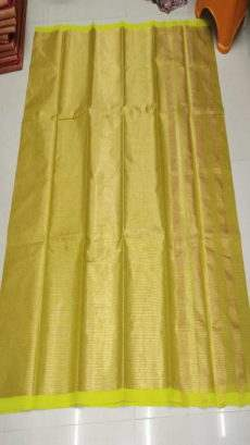 Gold & Yellow Cotton Tissue Saree-yespoho