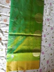 Green With Round Butta Uppada Soft Silk Saree-yespoho