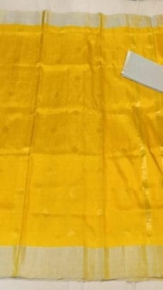 Yellow Uppada soft silk saree with coin Butta-yespoho