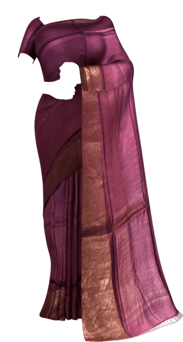 Dark Purple Tussar Munga Silk Saree Tussar Silk Yespoho Sarees New Arrivals