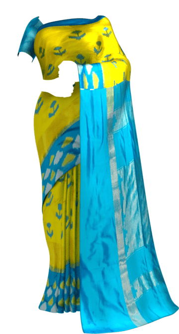 Ikkat kaddi border with allover anchor design Sankranti Sale Saree20 Yespoho Sarees New Arrivals Ikkat Sarees