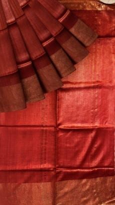 Dark Red Saree