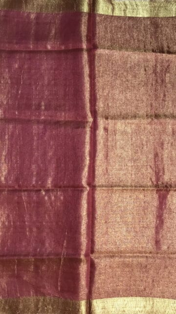 Yespoho Bright Pink Tissue linen with Dovi border