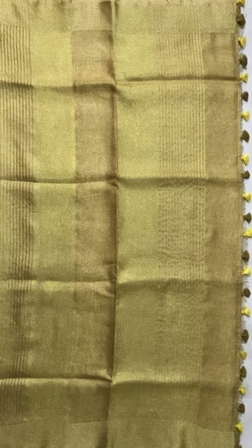 Golden Golden Tissue linen with Dovi border