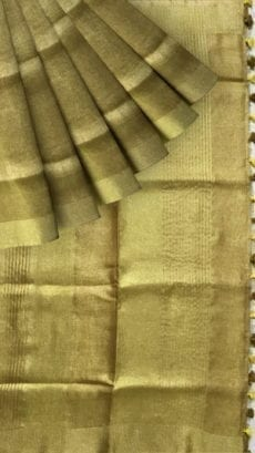 Golden Tissue linen with Dovi border-yespoho