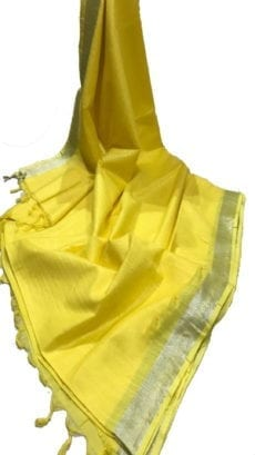 Yellow Cotton Salab Saree-yespoho