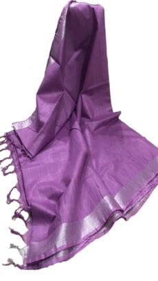 Purple Cotton Salab Saree-yespoho