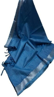 Blue Cotton Salab Saree-yespoho