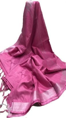 Pink Cotton Salab Saree-yespoho