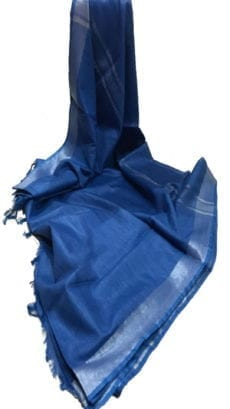 Dark Blue Cotton Salab Saree-yespoho