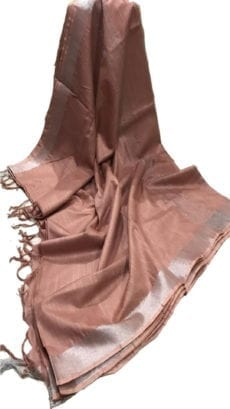 Coffee Brown Cotton Salab Saree-yespoho