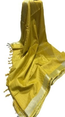 Mustard Yellow Cotton Salab Saree-yespoho