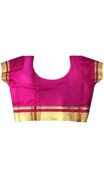 Voilet & Pink  Maharani Paithani Saree with Unstitched Blouse