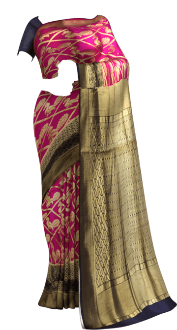 Pink & Blue All Over Soft paithani Paithani Sarees Yespoho Sarees New Arrivals