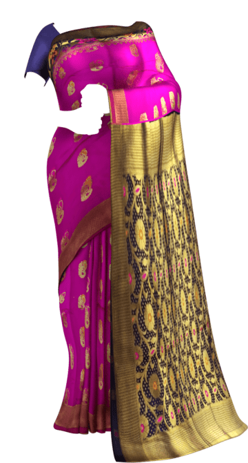 Pink & Blue Soft Silk Saree Soft Silk Sarees Yespoho Sarees New Arrivals