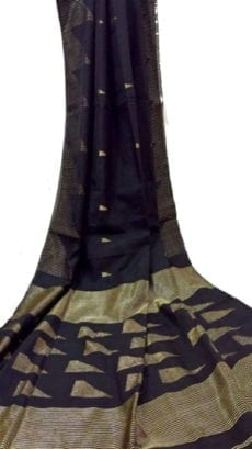 Black Pallu Temple Saree-yespoho