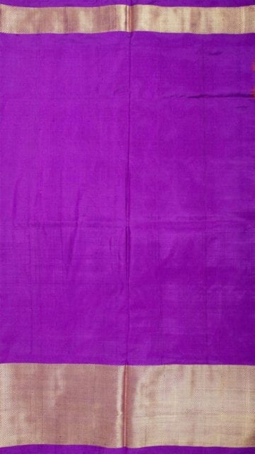 Shop Orange & Lavender Ikkat Pochampally Silk Saree Online