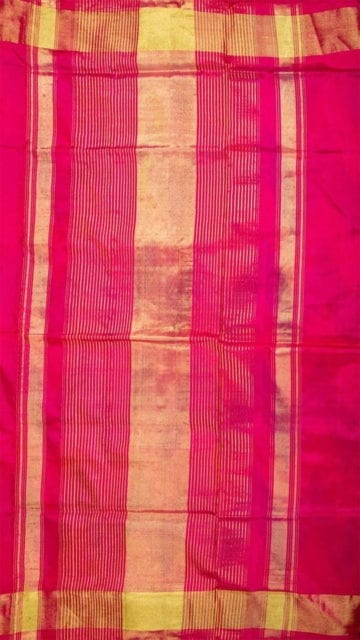 Dark blue Light Blue & Pink  Ikkat Pochampally Silk Saree