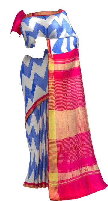 Light Blue & Pink  Ikkat Pochampally Silk Saree Pochampallysilk Sankranti Sale Saree20 Yespoho Sarees New Arrivals Ikkat Sarees