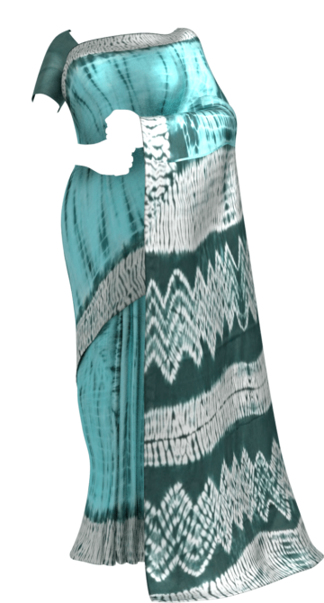 Sea Green & Teal Blue Shibhori Cotton Saree Cotton Sarees Happy Holidays Sale Saree25 Thanksgiving Year End Dhamaka Yespoho Sarees Handpicked Collections New Arrivals