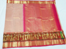 Magenta Kanchipuram Silk Saree-yespoho