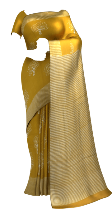 Mustard Yellow Designer Hand Block Print Cotton Saree Cotton Sarees Dussehra Sale Yespoho Sarees New Arrivals