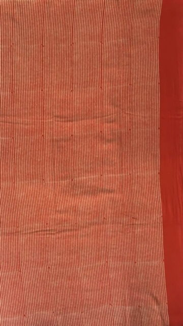 Red Red Designer Hand Block Print Cotton Saree