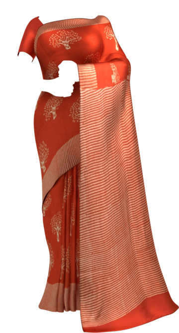 Red Designer Hand Block Print Cotton Saree Cotton Sarees Happy Holidays Sale Saree25 Thanksgiving Year End Dhamaka Yespoho Sarees Handpicked Collections New Arrivals