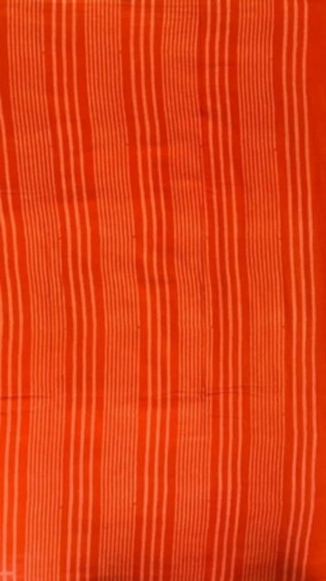 Dark Orange Dark Orange Designer Hand Block Print Cotton Saree