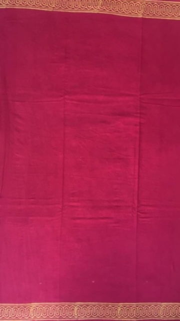 Shop Magenta Designer Hand Block Print Cotton Saree Online