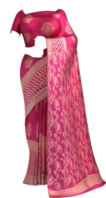 Magenta Designer Hand Block Print Cotton Saree Cotton Sarees Diwali Sale Yespoho Sarees Handpicked Collections New Arrivals