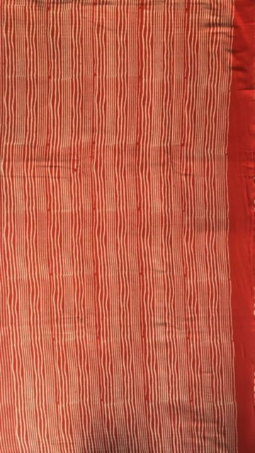Dark Red Dark Red & White Designer Hand Block Print Saree