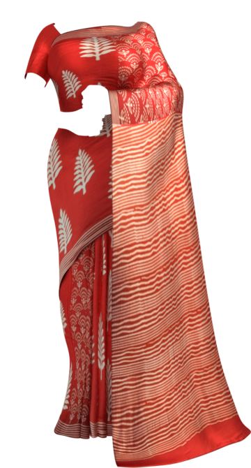 Dark Red & White Designer Hand Block Print Saree Cotton Sarees Sankranti Sale Saree25 Yespoho Sarees Handpicked Collections New Arrivals