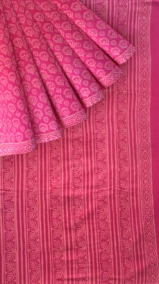 Purple Designer Hand Block Print Saree-yespoho