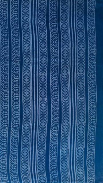 Dark blue Dark Blue Butta Design Hand Block Print Cotton Saree