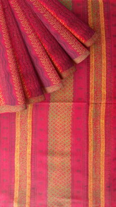 Designer Small Buti Cotta Cotton Block Print Saree-yespoho