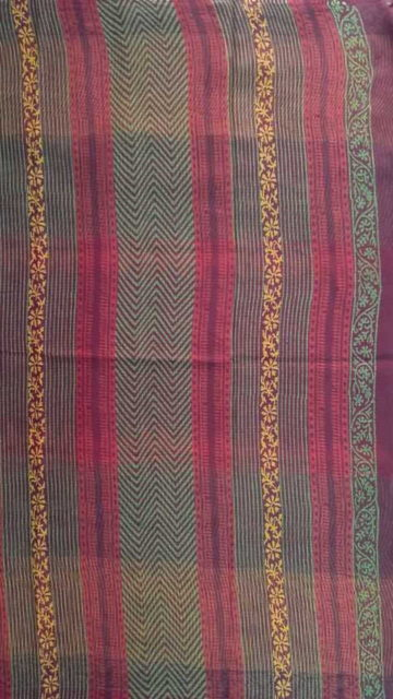 Coffee Brown Designer temple  Kotta Cotton Block Print Saree