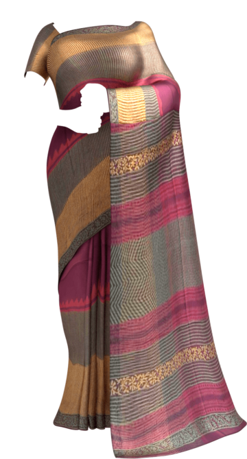 Shop Designer temple  Kotta Cotton Block Print Saree Online