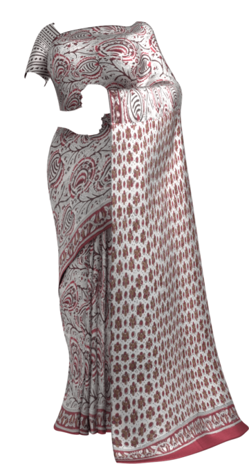 Bagru  Floral Hand Block Printed Cotton Saree Cotton Sarees Thanksgiving Winter Sale Yespoho Sarees Handpicked Collections New Arrivals