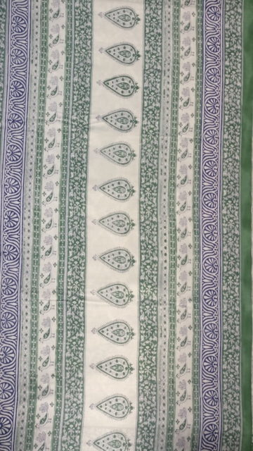 & Blue Designer Squad Jaipur Block Print Cotton Saree