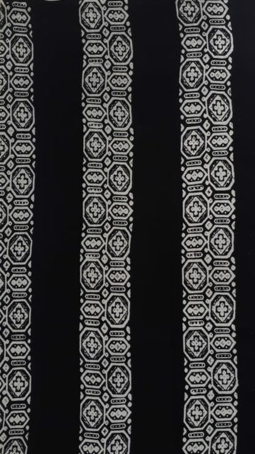 Black & White Black & White Paisley  Hand Block Printed Cotton Saree