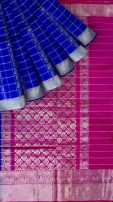 Ruby Pink & Light Green Designer Traditional Silk Cotton Saree-yespoho