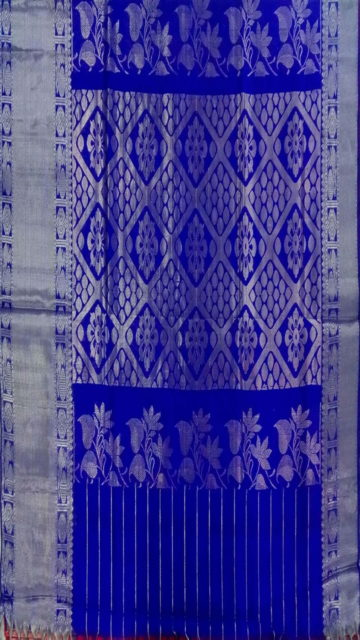 Blue Pink & Blue Traditional Designer  Silk Saree