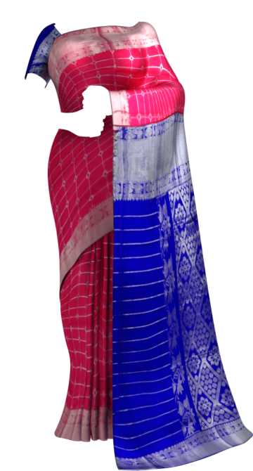 Pink & Blue Traditional Designer  Silk Saree Silk Cotton Sarees Yespoho Sarees New Arrivals